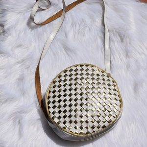 Circular cross body purse